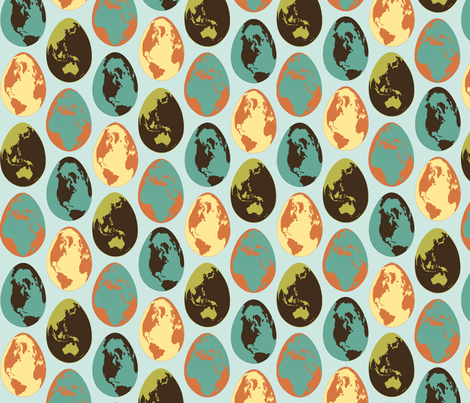 GlobeEgg3 fabric by mgterry on Spoonflower - custom fabric