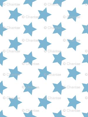 stars in dusk blue
