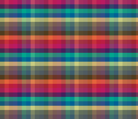 Fall 2013 Fashion Colors Madras fabric by peacoquettedesigns on Spoonflower - custom fabric