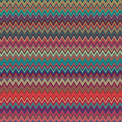 Fall 2013 Fashion Colors Mini Chevrons fabric by peacoquettedesigns on Spoonflower - custom fabric