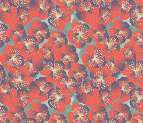 floral bloom fabric by kociara on Spoonflower - custom fabric