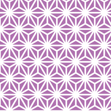 asanoha solid in amethyst fabric by chantae on Spoonflower - custom fabric