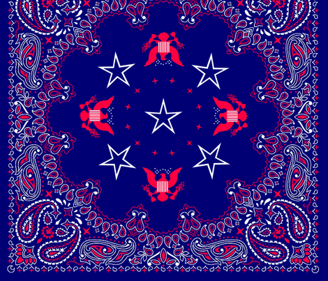 bandana red, white and blue - big fabric by krs_expressions on Spoonflower - custom fabric