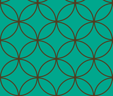 Encircled ~ Emerald and Chocolate fabric by peacoquettedesigns on Spoonflower - custom fabric