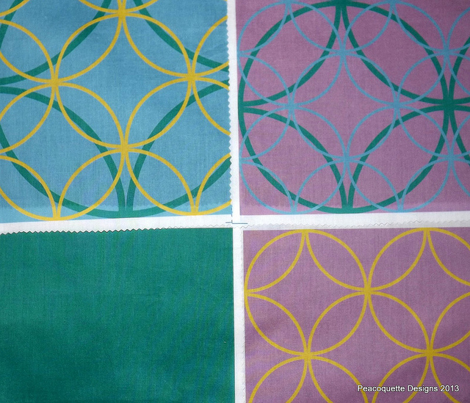 Encircled ~ Emerald, Sky Blue and Lavender