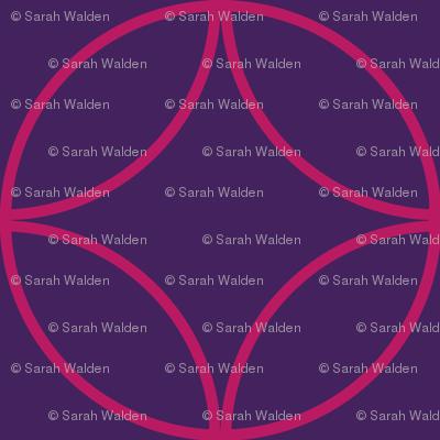 Encircled ~ Royal Purple and Raspberry