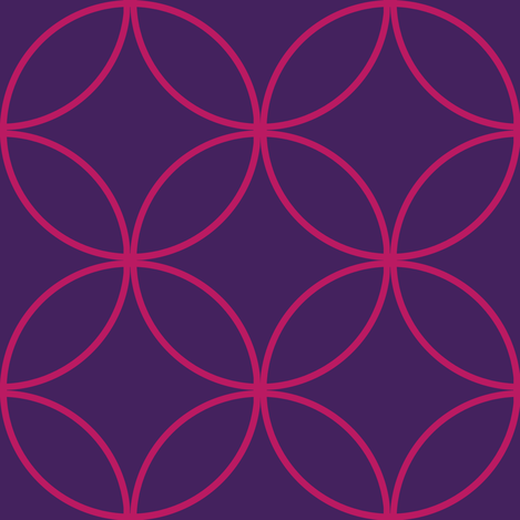 Encircled ~ Royal Purple and Raspberry fabric by peacoquettedesigns on Spoonflower - custom fabric
