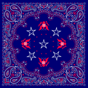 bandana red, white and blue - small