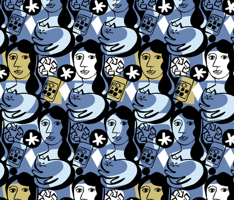 girlfriend fabric by ottomanbrim on Spoonflower - custom fabric