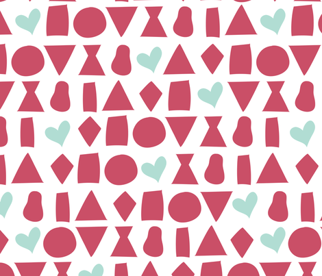 Celebrating all the Female Body Shapes - PINK fabric by paper_canoe on Spoonflower - custom fabric