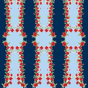 Fourth of July Grandma's Handkerchief Stripe