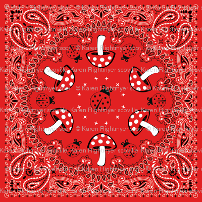 bandana - red, big