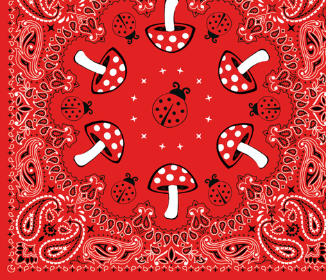 bandana - red, big fabric by krs_expressions on Spoonflower - custom fabric