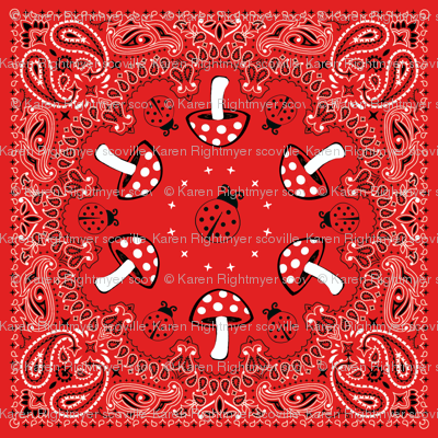 bandana - red, small