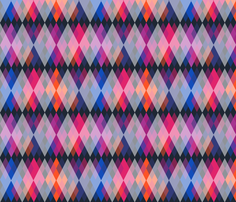 Bright Orion Nebula Argyle fabric by fentonslee on Spoonflower - custom fabric