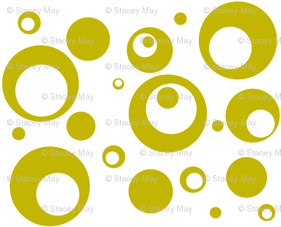 Circles and Dots White with Citron