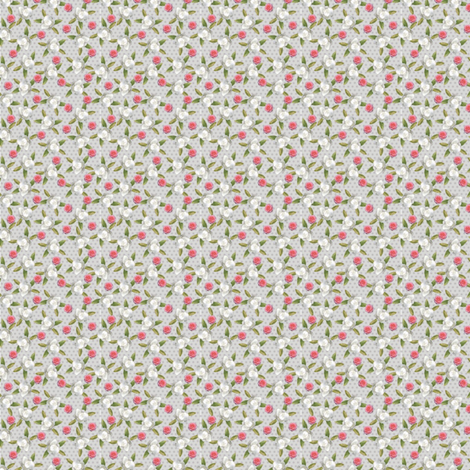 Ditsy Floral and Dots fabric by erikaelisabeth on Spoonflower - custom fabric