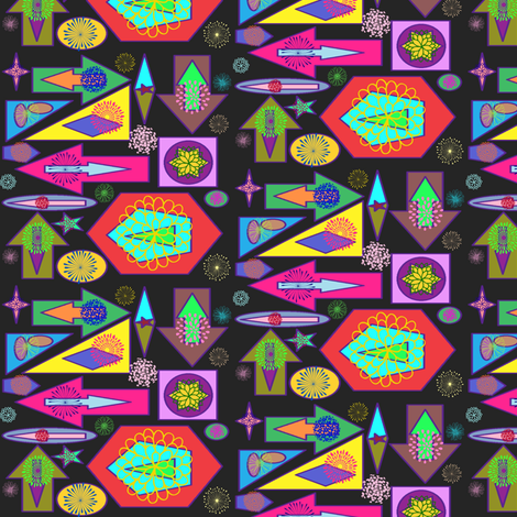 Chaos and Flowers fabric by ravynscache on Spoonflower - custom fabric