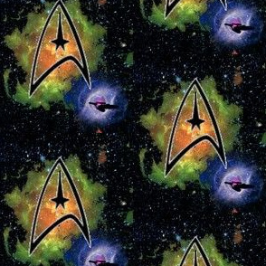 Starship Enterprise in the Nebula
