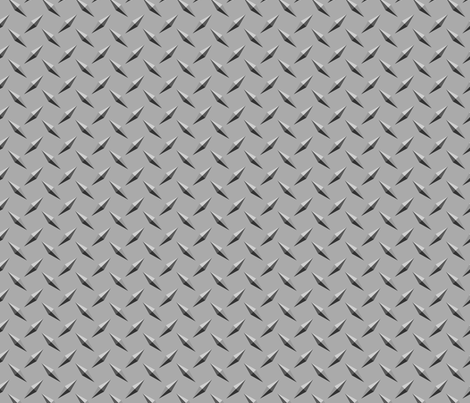 Diamond Plate Metal fabric by ripdntorn on Spoonflower - custom fabric