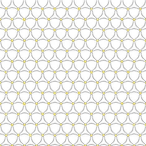 Dotty Triangles — with a touch of yellow fabric by aussienisi on Spoonflower - custom fabric