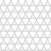 Dotty Triangles - Black on White