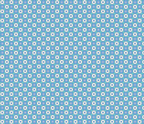 Starry Doodles - Blue on Aqua fabric by aussienisi on Spoonflower - custom fabric