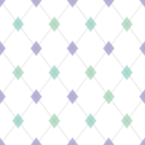 Mini Argyle: Lavenders and Greens fabric by penina on Spoonflower - custom fabric