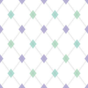 Mini Argyle: Lavenders and Greens