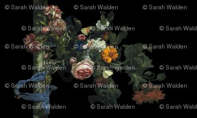Flower Still Life With A Watch ~ Willem van Aelst ~ Border Print