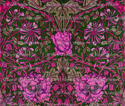 William Morris ~ Honeysuckle ~ Cheshire Cat