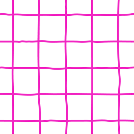 grid fuschia fabric by chantae on Spoonflower - custom fabric