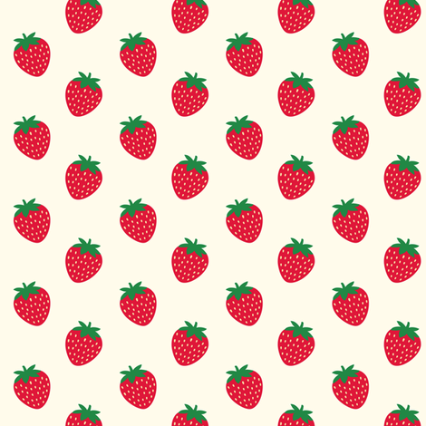 Strawberries  fabric by kimsa on Spoonflower - custom fabric