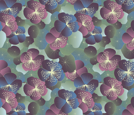 midnight garden fabric by kociara on Spoonflower - custom fabric