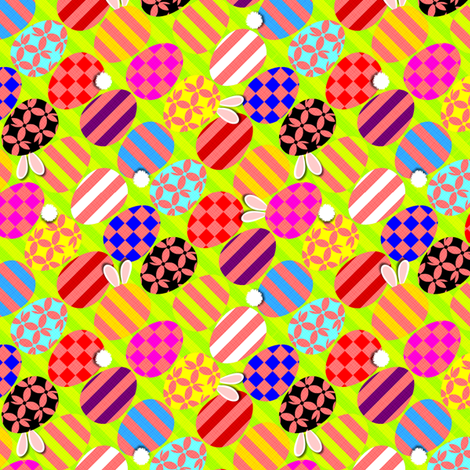 Easter Egg Hide and Seek fabric by glimmericks on Spoonflower - custom fabric