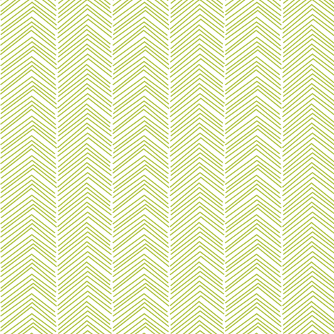chevron ♥ lime green fabric by misstiina on Spoonflower - custom fabric