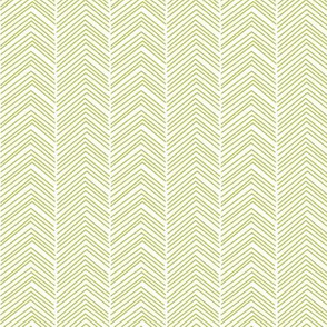 chevron  lime green and white