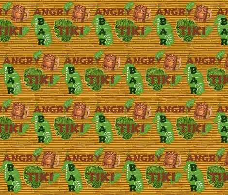 angry tiki fabric by paragonstudios on Spoonflower - custom fabric