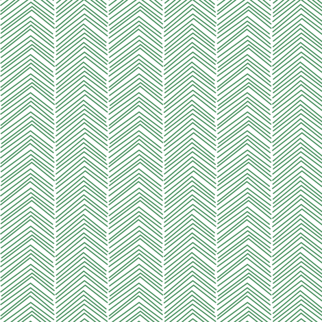 chevron ♥ green and white fabric by misstiina on Spoonflower - custom fabric