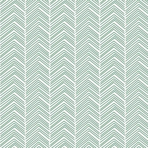chevron ♥ green and white