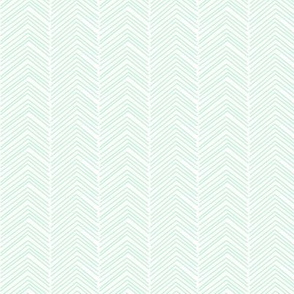 chevron love ice mint green