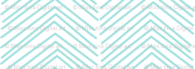 chevron ♥ light teal