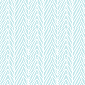 chevron ♥ teal and white
