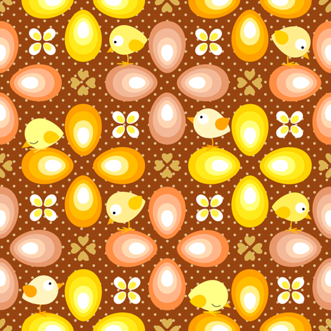 eggs & chicks fabric by heleenvanbuul on Spoonflower - custom fabric