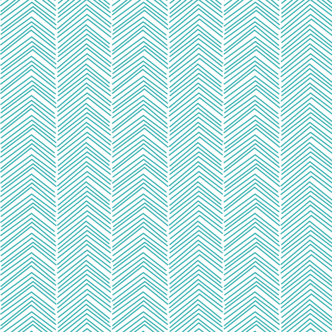 chevron ♥ teal fabric by misstiina on Spoonflower - custom fabric