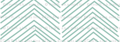 chevron ♥ faded teal and white