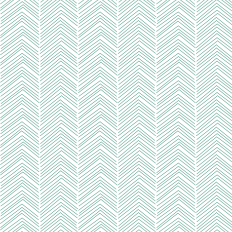 chevron ♥ faded teal and white fabric by misstiina on Spoonflower - custom fabric