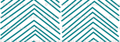 chevron ♥ dark teal and white