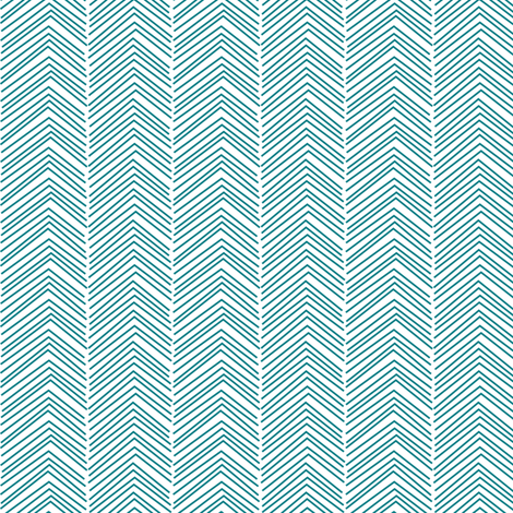 chevron ♥ dark teal and white fabric by misstiina on Spoonflower - custom fabric