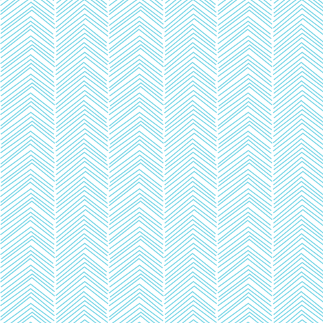chevron love sky blue fabric by misstiina on Spoonflower - custom fabric